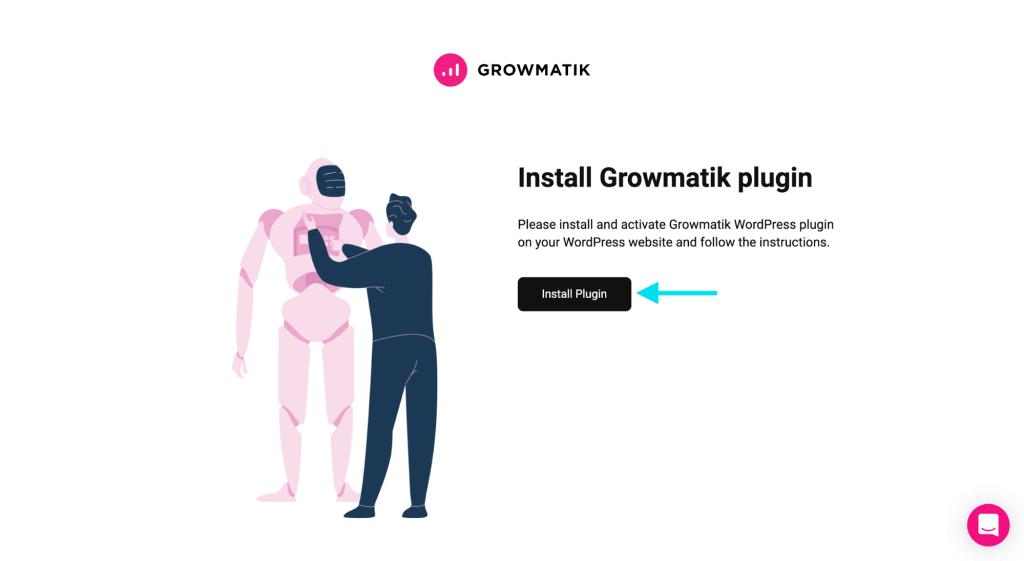 integrate with growmatik - install plugin