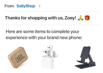 email marketing woocommerce - Growmatik personalized products
