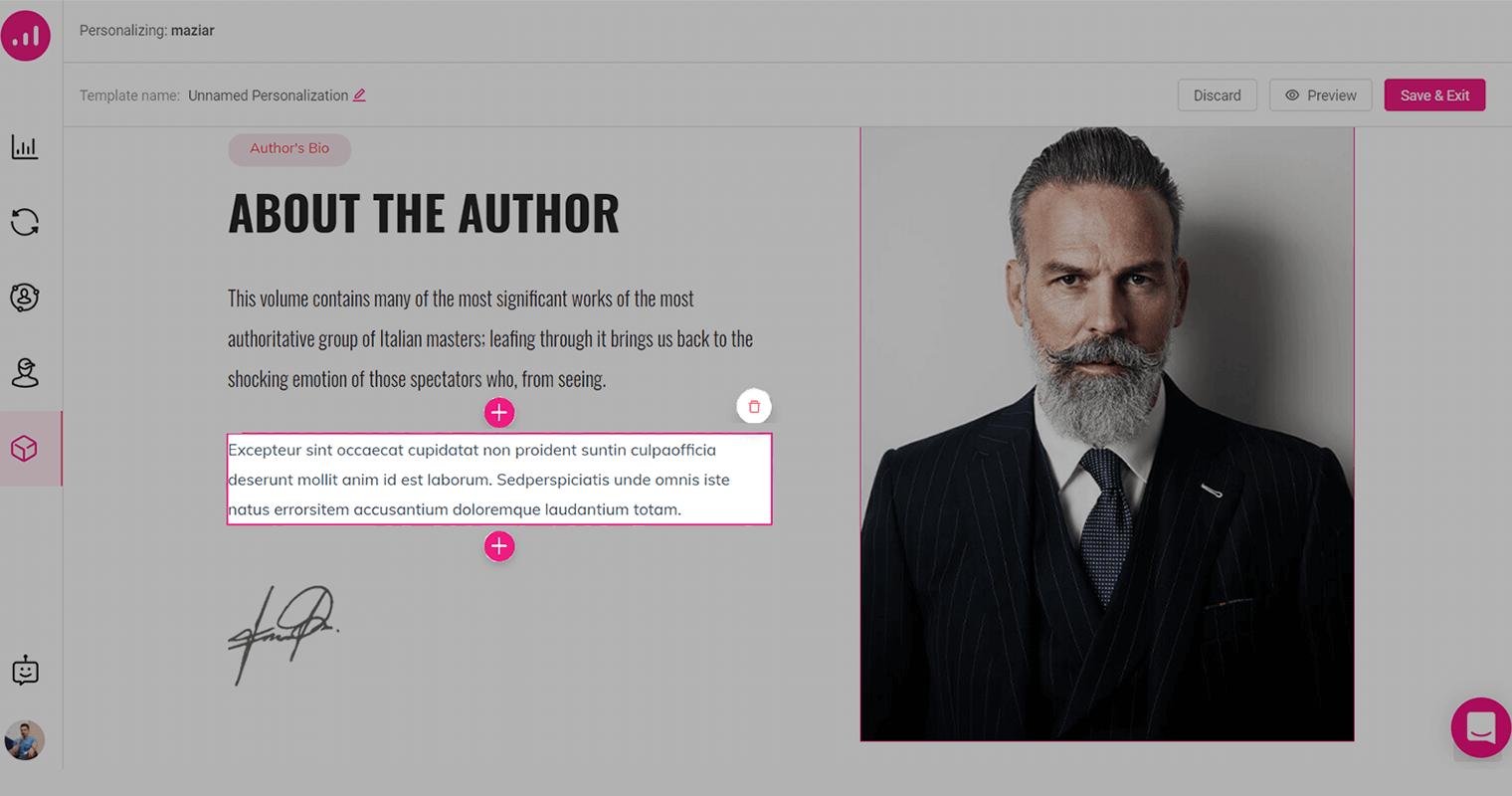 Website Personalizer - Growmatik - adding content to website