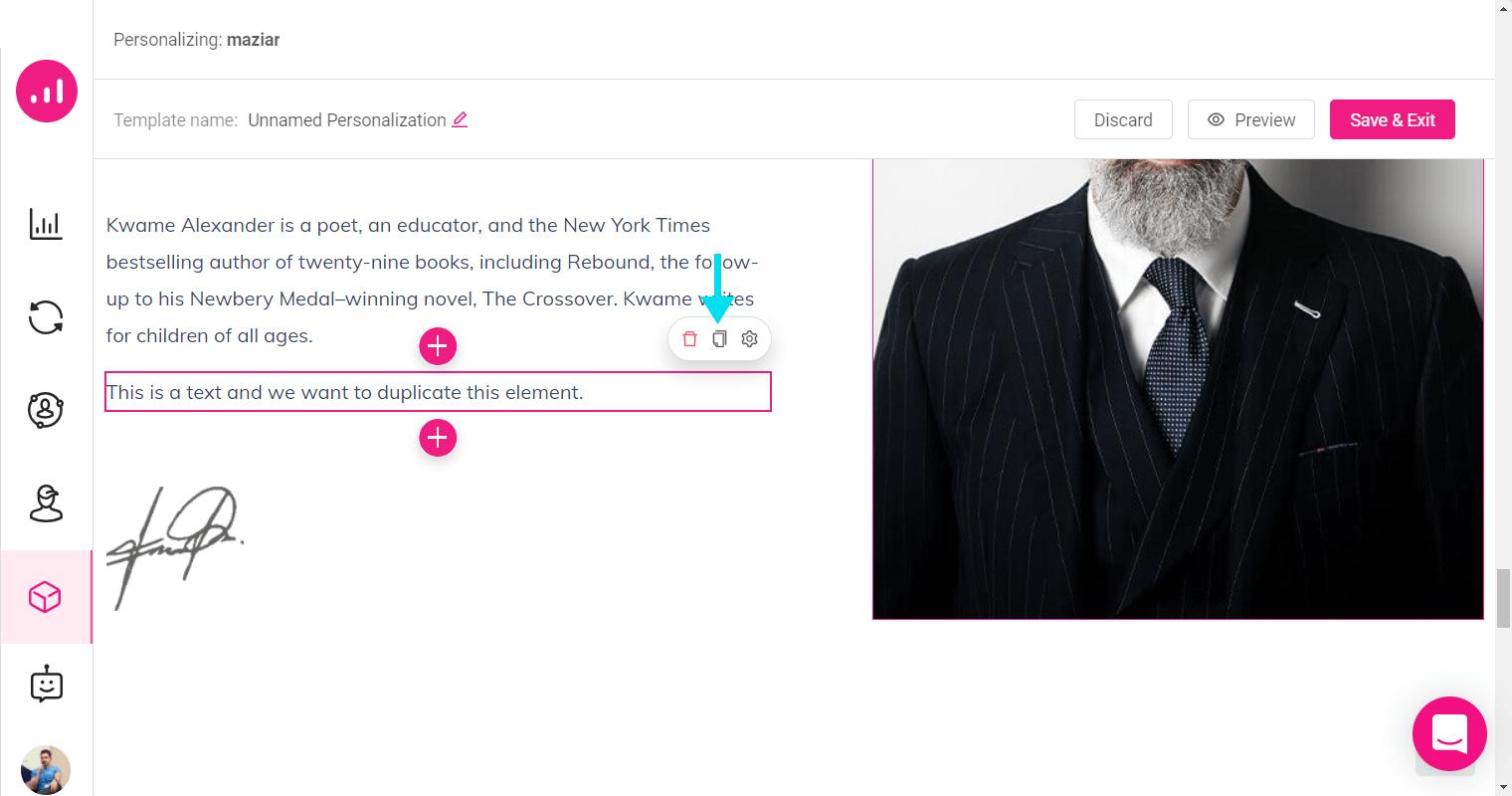 Website Personalizer - Growmatik - duplicate an element