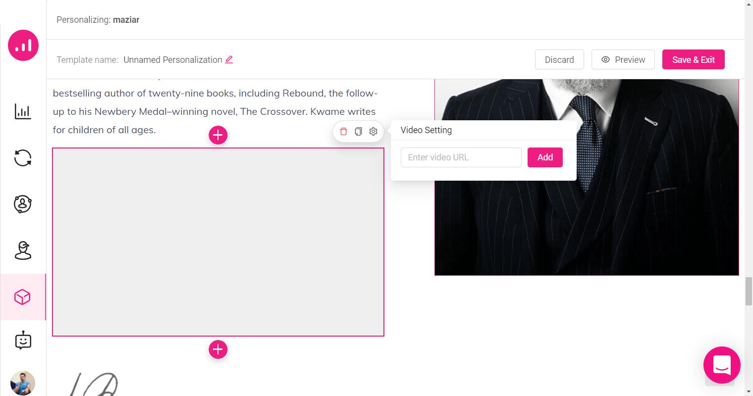 Website Personalizer - Growmatik - element video