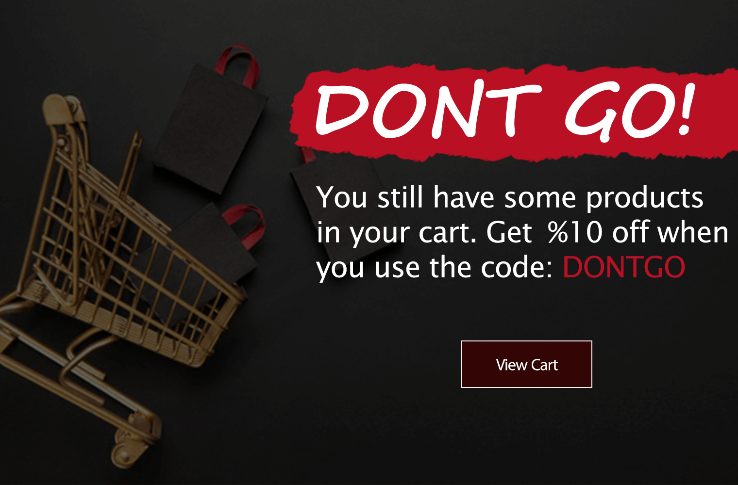 Show cart abandoners an exit popup with a coupon to restore them