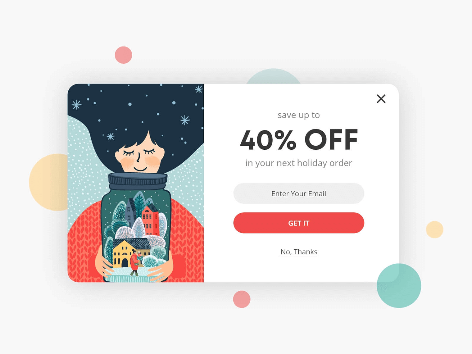 Show slipping customers an exit popup with a coupon to reactivate them